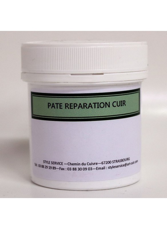 Pate reparation cuir auto