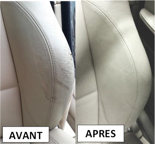 Réparation locale siège en cuir auto